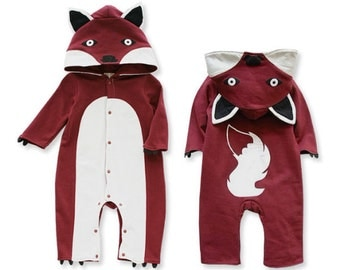 Fox costume animal Funny Romper infant suit and Toddler  6M-24M