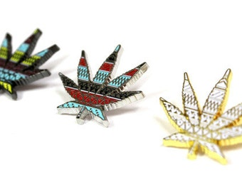 The Mayan Leaf Hat Pin Set - Pretty Bassnectar Dead STS9 Weed Dabs Dab Phish Festival Big Gigantic Griz Floozies Sacred Streetwear