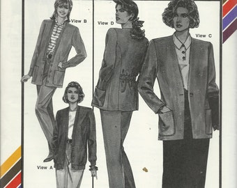 Uncut Vintage Sewing Pattern #1020 - BLAZER CARDIGAN - Stretch & Sew, Ann Person 1989  -Sizes 30-46 - Very Stylish and Flattering Cute!