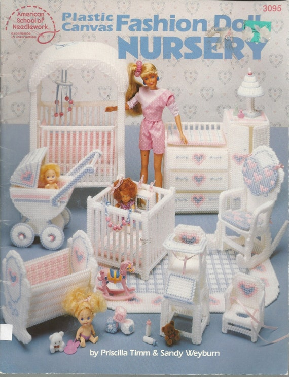 Fashion Doll Barbie Size Plastic Canvas Pattern Book Baby