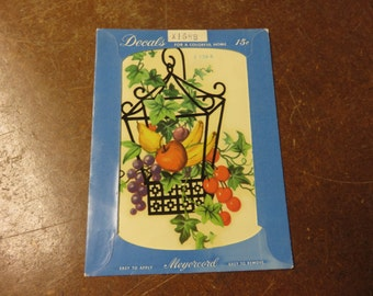 Vintage Meyercord Fruit Cage Basket Decal