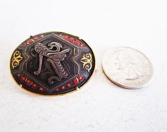 Vintage Cierre Spanish Serpent Brooch Signed Gorgeous