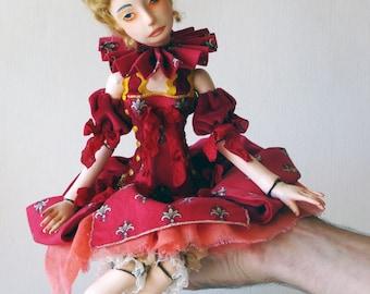 "Art doll,  OOAK, jointed doll  ""Harriet"""