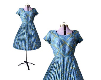 1950s Dress 50s Dress Plus Size 50s Dress Plus Size 1950s Dress Large 1950s Dress Vintage 50s Dress Blue 50s Dress Blue 1950s Dress Womens