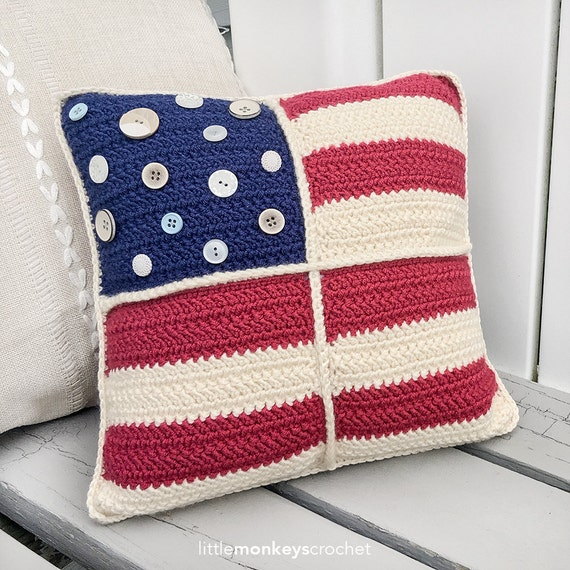 Americana Crochet 12 Throw Pillow Pattern Americana