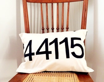 Zip Code Pillow Cover -  Your Hometown Pillow Cover