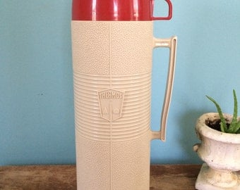 Retro Thermos Brand Thermos with Cup, 13.5""