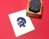 Pixel Skull Rubber Stamp
