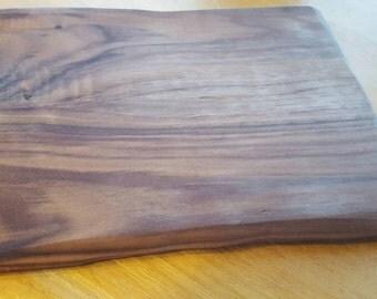 Walnut live edge cutting board-live edge solid walnut cutting board -handmade heirloom quality cutting board