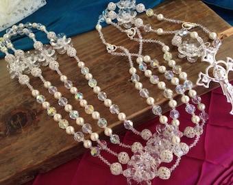 de lasolazo de gina swarovski cristal boda boda boda lazo boda rosario