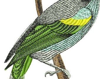 gray bird on a branch  - Machine Embroidery Design - tested