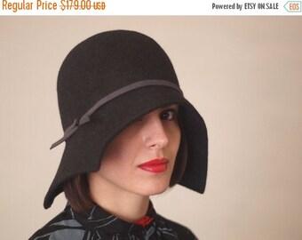 On sale Handmade hat winter autumn women hat millinery 1920. style cloche hat / Fashion