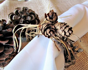 Pine Cone Napkin Rings, Autumn Fall Napkin Rings, Rustic Grapevine Napkin Ring, Thanksgiving Napkin Ring, Fall Autumn Table Decor Decoration