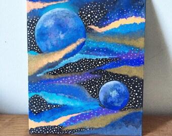 Midnight Galaxy Painting
