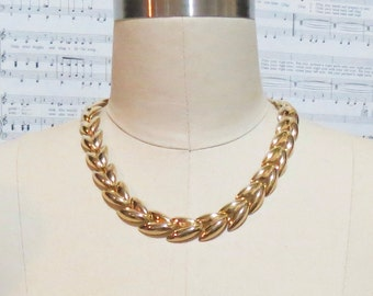 Clearance Sale! Cleopatra necklace - Chunky gold link - art deco - collar necklace - chunky necklace