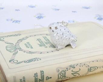 Owl Necklace - Snowy Owl Pendant Necklace -  Animal Necklace - Owl Animal Jewellery - Bird Necklace - Snowy Owl Pendant - Necklace - Hedwig