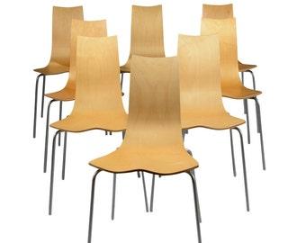 Ljunnggren Shell Chairs 8 Mid Century Danish Modern