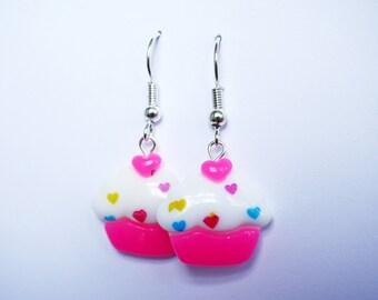 kawaii cupcake earrings