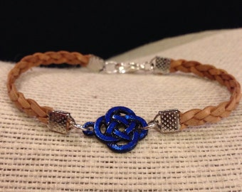 Blue Celtic Knot Braided Bracelet