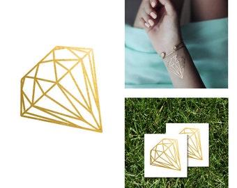 Gold Diamond Metallic Temporary Tattoo