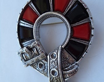 Vintage Signed Miracle Silvertone Buckle Brooch/Pin