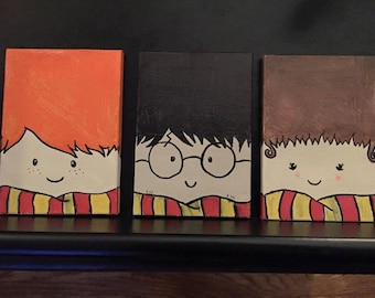 harry potter painting etsy
