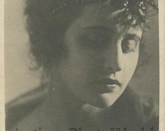 Beautiful sad Vera Holodnaya Russian silent film star antique phot pc