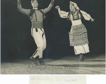 Yugoslavia Kolo dancers ethnic costumes antique photo