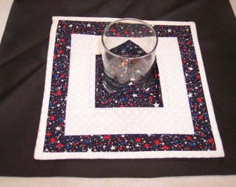 Red/White/Blue Star Candle Holder Mat