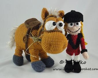 Amigurumi Crochet Pattern - Herbert the Horse & Roberta the Rider