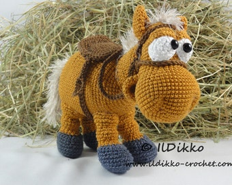 Amigurumi Crochet Pattern - Herbert the Horse