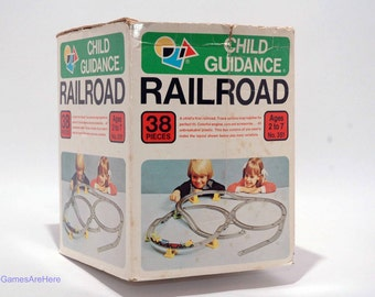Railroad Child Guidance Toy VINTAGE COMPLETE with extra parts