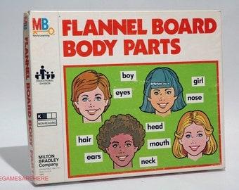 Flannel Board Teaching Aid Body Parts Milton Bradley 1979