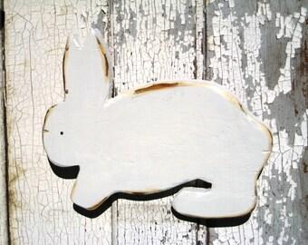 Wood Bunny Rabbit Decor Reclaimed Wood Art Rustic Childs Room Modern Art Rabbit Art Nursery Decor Kids Room Minimalist Wall Art Easter Bunny
