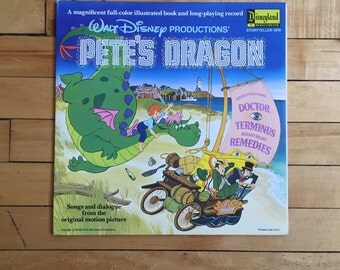 Vintage Walt Disney's Pete's Dragon Vinyl Record 1977
