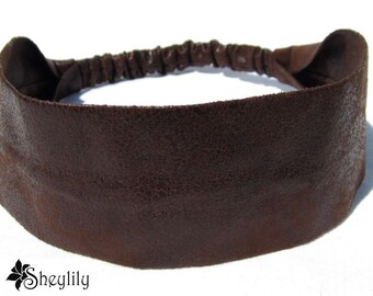 Faux Leather Headband for Ladies, Women or Teens, Made to Order