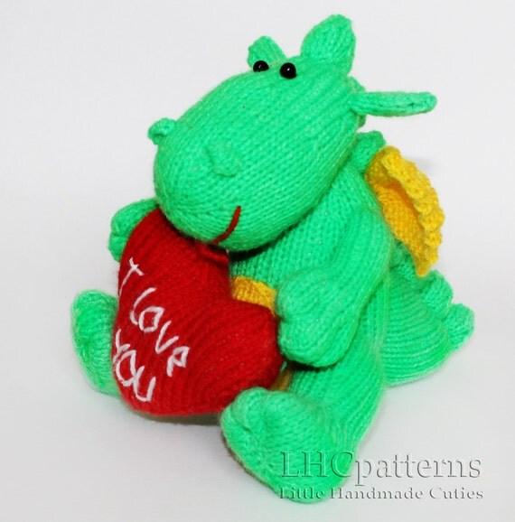 Denny Dragon Knitted Toy PDF Pattern