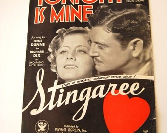 Vintage Sheet Music, Tonight Is Mine, Stingaree