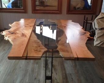 Live Edge Table Reversed Live Edge Harvest Table Live Edge Boardroom Table  Conference Table Reclaimed Wood