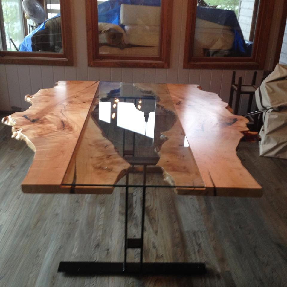 Live Edge Table Reversed Live Edge Harvest Table Live Edge