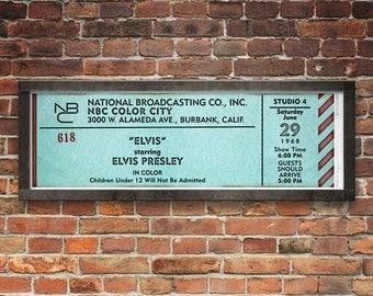 Elvis Presley Burbank 1968 Concert Ticket
