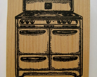Vintage Rubber Stamp Old Stove by Museum of Modern Rubber Oven Stamp Farmhouse Stove Rubber Stamp Old Fashioned Kitchen Stove Stamp UNUSED