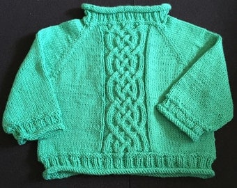 2T Teal Cabled Sweater