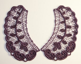 Lace Collar in GRAPE for 18 inch dolls such as American Girl #CR20