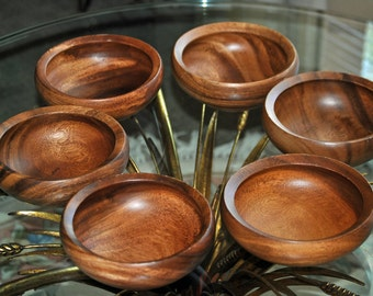Six Vintage DANSK JENS QUISTGAARD Teak Bowls