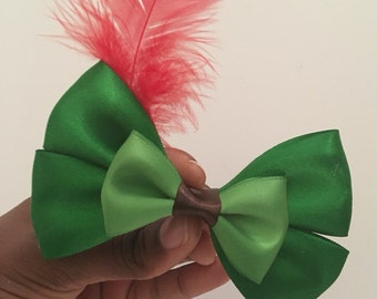 Peter Pan Bow, Disney Hair Bow, hairbow