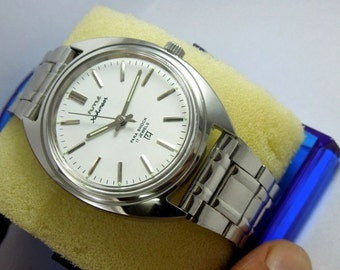 Vintage Men's Watch NOS HMT Kohinoor white Colour Dial Hand Winding 17Jewels