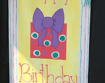 Hand painted birthday banner, personalized