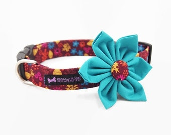 Dog Collar Flower Set Chloe