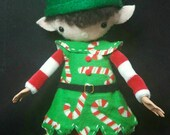 "Elf ""Edward Plumfun"" posable 12"" Art Doll Holiday Helper Elf with Keepsake Giftbox"